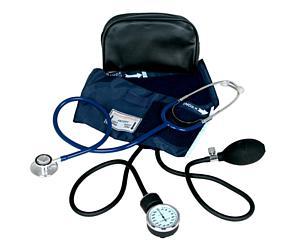 Aneroid Sphygmomanometer w/ Dual Head Stethoscope, Blue < EverDixie