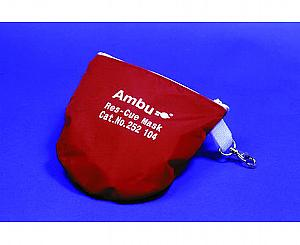 Res-Cue CPR Mask w/ Oxygen Inlet in Soft Red Case