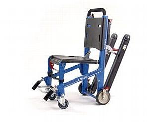 EZ-Glide Stair Chair w/ IV, LocHandles, Track & ABS Panels - Rescue Red