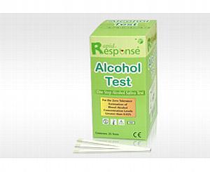 Rapid Response 02 Alcohol Test, 25 PER BOX