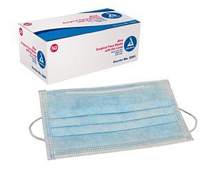 Pleated Procedure Face Mask w/Earloops , Box/50