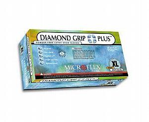 Diamond Grip Plus Latex Exam Gloves - Medium , Box/100 < Microflex #DGP-350-M