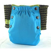 Aqua Blue Antsy Pants™ in 6-12 months size, fits from around 13lbs to 22lbs