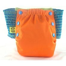 Orange Antsy Pants™ in 6-12 months size, fits from around 13lbs to 22lbs