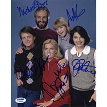 Family Ties Cast by 5 Members Signed 8x10 Photo Certified Authentic PSA/DNA COA