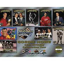Gordie Howe Signed Card Authentic