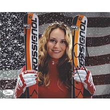 Lindsey Vonn Medal Signed 8x10 Photo Certified Authentic JSA COA