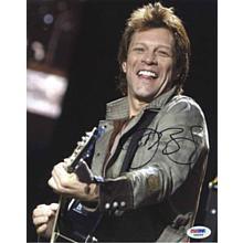 Jon Bon Jovi Live w/ Guitar Signed 8x10 Photo Certified Authentic PSA/DNA COA