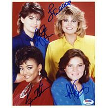 The Facts of Life Cast by 4 Signed 8x10 Photo Certified Authentic PSA/DNA COA