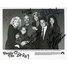 Family Ties Cast Awesome Signed Press Photo AuthenticCOA