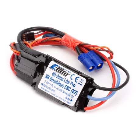 40-Amp Lite Pro Switch-Mode BEC Brushless ESC (V2)