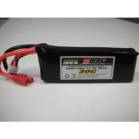 2200mAh 3S 30C LiPo Battery with SUP Connector