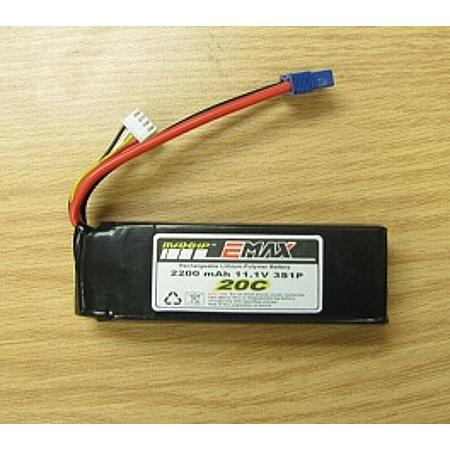 2200mAh 3s 20C LiPo Battery w/ EC3 connectors