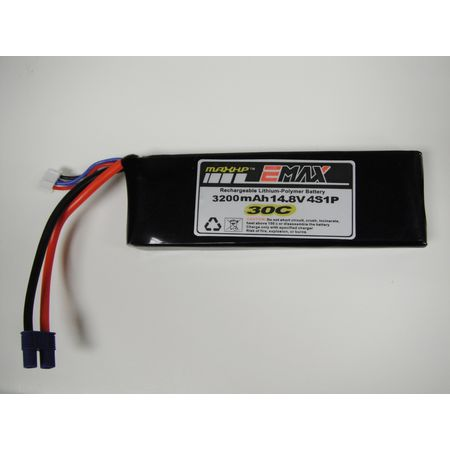 3200mAh 3s 30C LiPo Battery w/ EC3 connectors