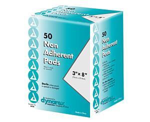"Non Adherent Pads, Sterile, 3"" x 8"", Box/50 < Dynarex #3438"