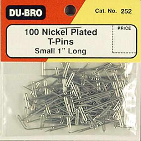 "T-Pins, Nickel Plated, 1"" (100)"