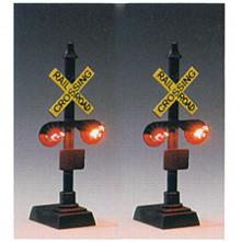 HO Railroad Crossing Signal w/Relay Box