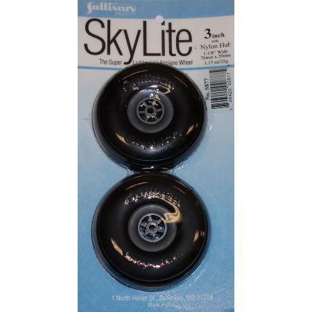 """Skylite Wheels w/Treads,3"""""""