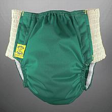 Antsy Pants™ AIO or AI2 size L Fall Green with White Easy-Stretch Sides (bigger kids apx. 45-60lbs)