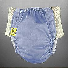 Antsy Pants™ AIO or AI2 size L Periwinkle with White Easy-Stretch Sides (bigger kids apx. 45-60lbs)