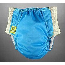 Antsy Pants™ AIO or AI2 size S Aqua Blue with White Easy-Stretch Sides (littles apx.15-30lbs)