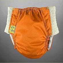 Antsy Pants™ AIO or AI2 size S Orange with White Easy-Stretch Sides (littles apx.15-30lbs)