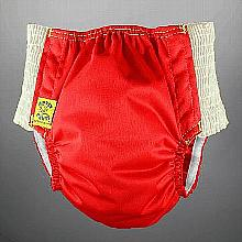 Antsy Pants™ AIO or AI2 size S Red with White Easy-Stretch Sides (littles apx.15-30lbs)