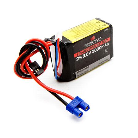 3000mAh 2S 6.6V Li-Fe Receiver Battery