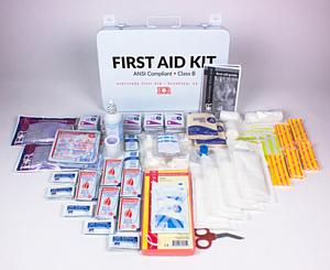 Infection control protection iv saline bags supplies ems basic ansi compliant first aid kit publicscrutiny Image collections