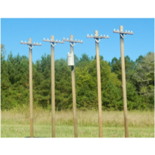 HO Scale 40 Ft. Power Pole Set