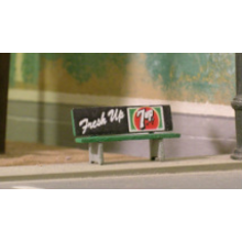 HO Bus Bench (Qty. 4)