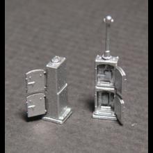 N US&S Style Double Door Relay Cabinets