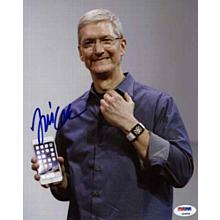 Tim Cook Apple CEO Signed 8x10 Photo Certified Authentic PSA/DNA COA