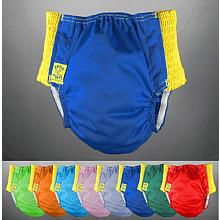 Antsy Pants™ Diaper - Size S in assorted colors for littles apx. 15-30lbs, with Yellow Easy-Stretch Sides