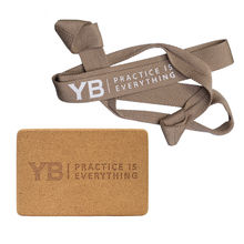 Cork Yoga Block| Super Yoga Strap & Mat Carrier BUNDLE