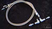 Hand brake (in line type) stainless lines and fittings kit for S13,S14 & FC (Not for ABS cars)