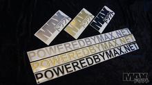 "MAX Logo Sticker 8"" GOLD $2"