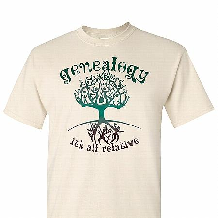 """Genealogy - It's All Relative"" Adult T-Shirt"