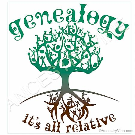 """Genealogy - It's All Relative"" Ladies T-Shirt"