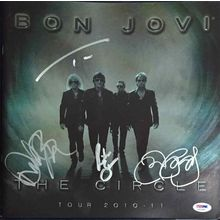 Bon Jovi 'The Circle' Signed Tour Program Book Certified Authentic PSA/DNA COA