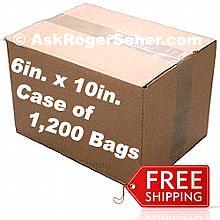 6x10 in. Vacuum Sealer Bags Case Pack of (1,200) bags