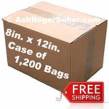 Case Pack of (1200) 8x12 in. Vacuum Sealer Bags ** FREE Shipping ** **** In Stock ready to ship  ****