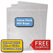 Value Pack of (400) 8x12 in. Vacuum Sealer Bags ** FREE Shipping ** **** In Stock ready to ship  ****