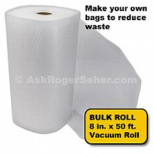 8 in. x50 ft. Roll of Vacuum Sealer Bagging w/ Mesh Liner ***** In Stock, Ready to Ship *****