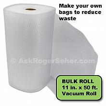 11 in. x50 ft. Roll of Vacuum Sealer Bagging w/ Mesh Liner ***** In Stock, Ready to Ship *****