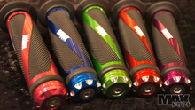MAX Helical Scooter Grip Pair BLUE