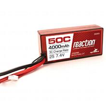 Reaction 7.4V 4000mAh 2S 50C LiPo, Hardcase: 96mm