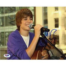 Justin Bieber Young Signed 8x10 Photo Certified Authentic PSA/DNA COA