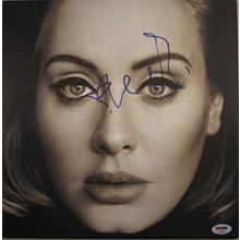 Adele '25' Signed Record Album LP Certified Authentic PSA/DNA COA