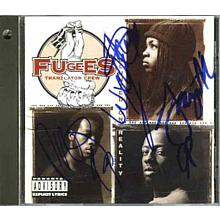 Fugees Hill, Wyclef, Michael Signed CD Certified Authentic PSA/DNA COA